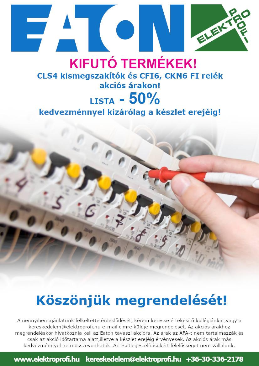 EATON CLS4, CFI6, CKN6 LISTA -50% kedvezménnyel