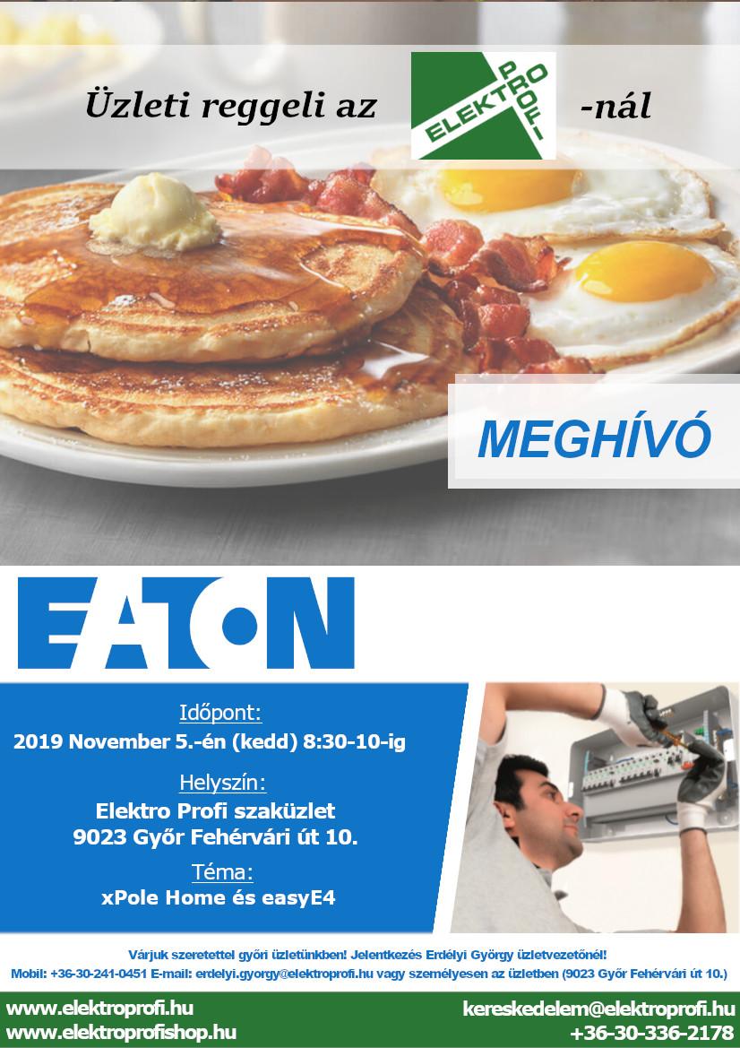 EATON üzleti reggeli