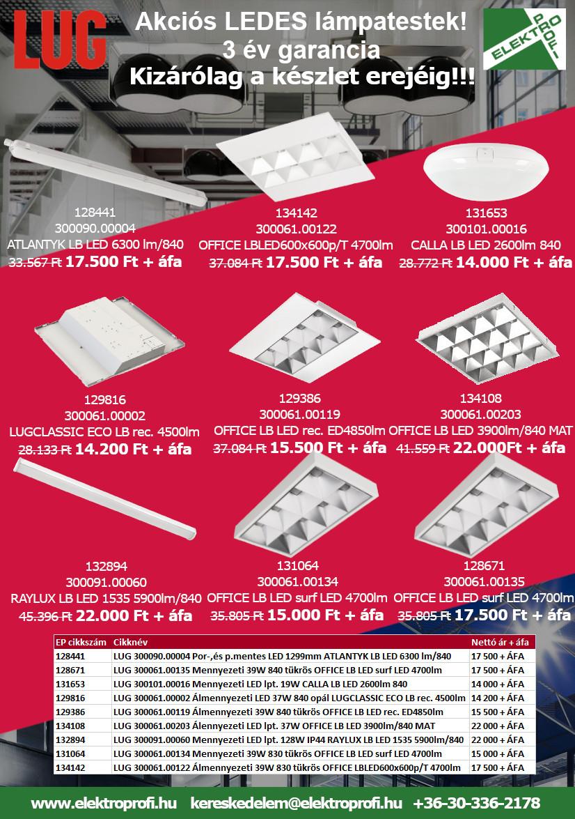Akciós LEDES lámpatestek