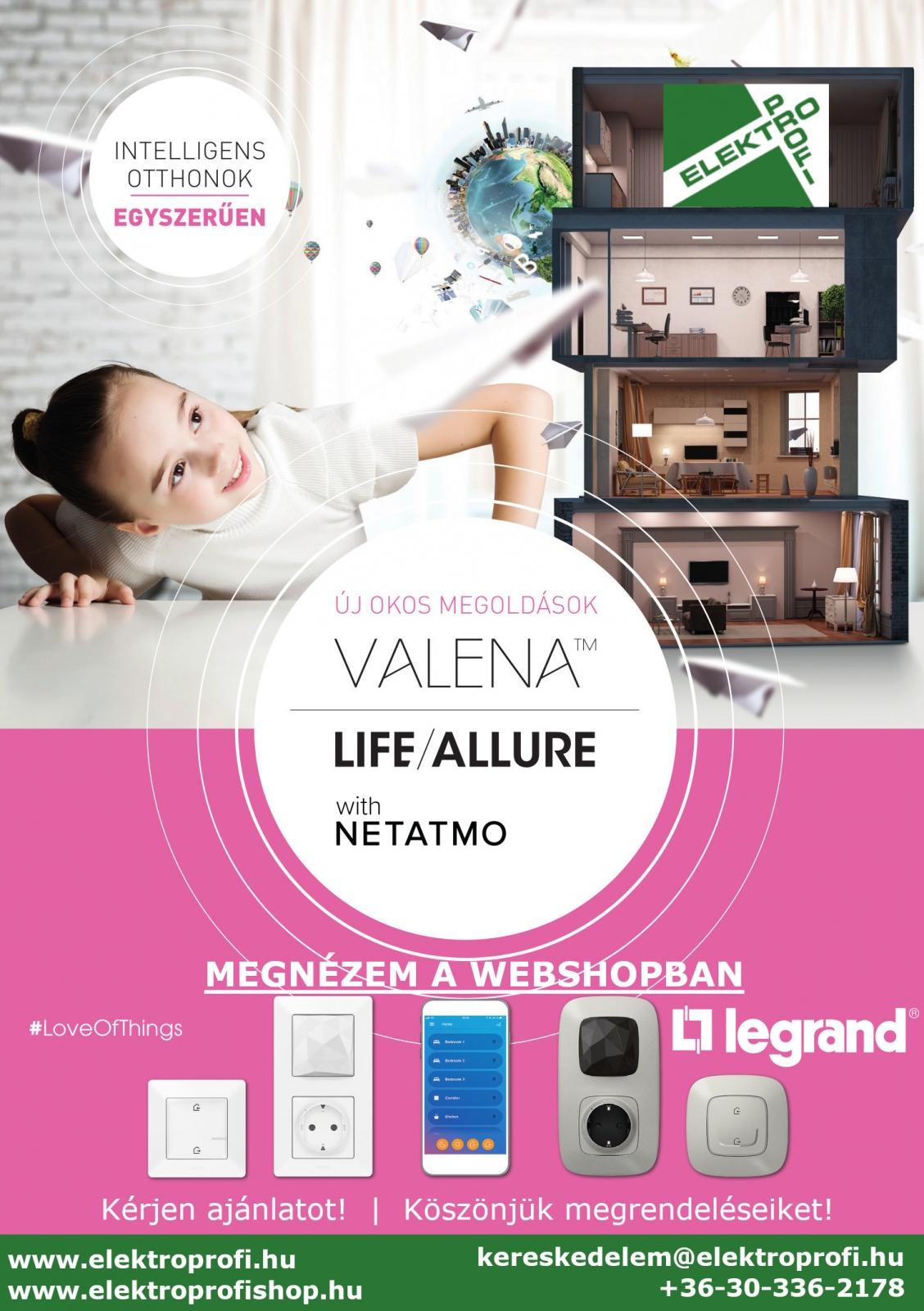 Új okos otthon megoldások Legrand Valena LIFE/ALLURE with NETAMO