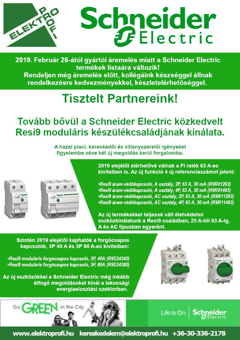 Tovább bővül a Schneider Electric Resi9 moduláris készülékcsaládjának kínálata