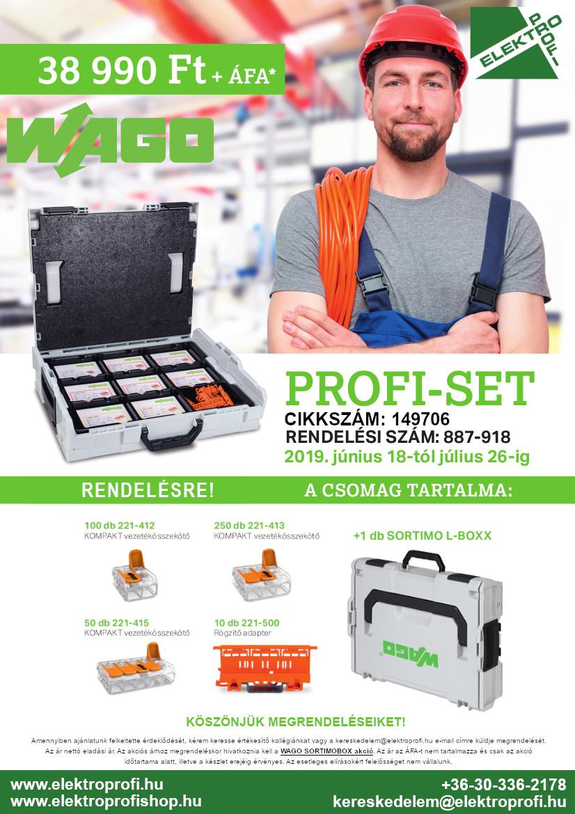 WAGO PROFI-SET Akció utolsó 2 nap