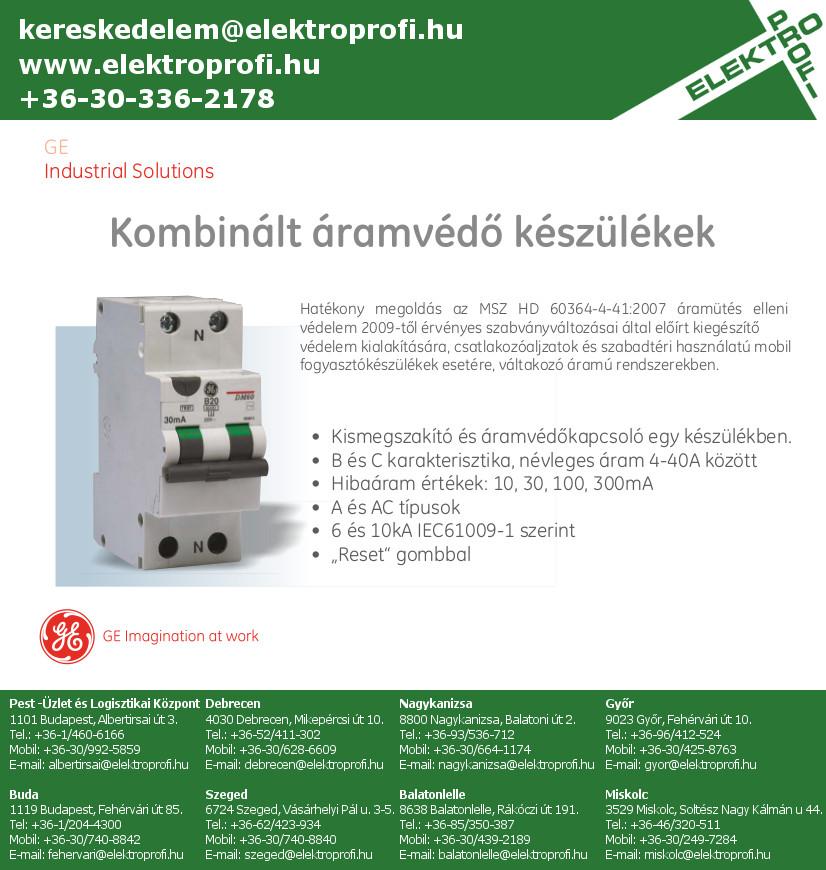 GE Industrial Solutions - Kombinált áramvédő készülékek