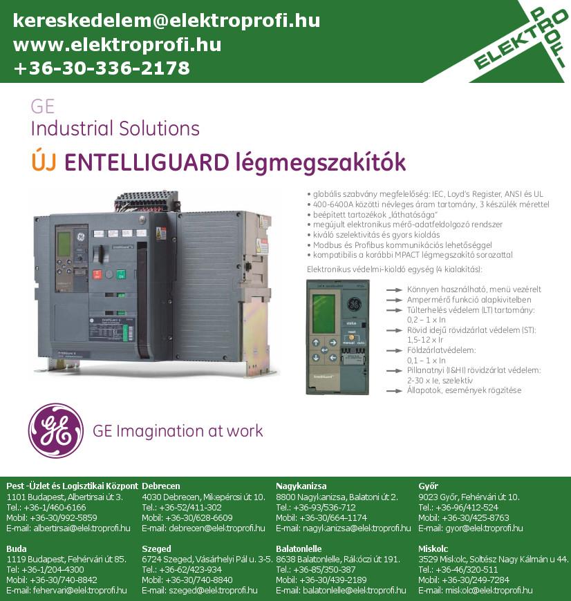 GE Industrial Solutions - ENTELLIGUARD légmegszakítók
