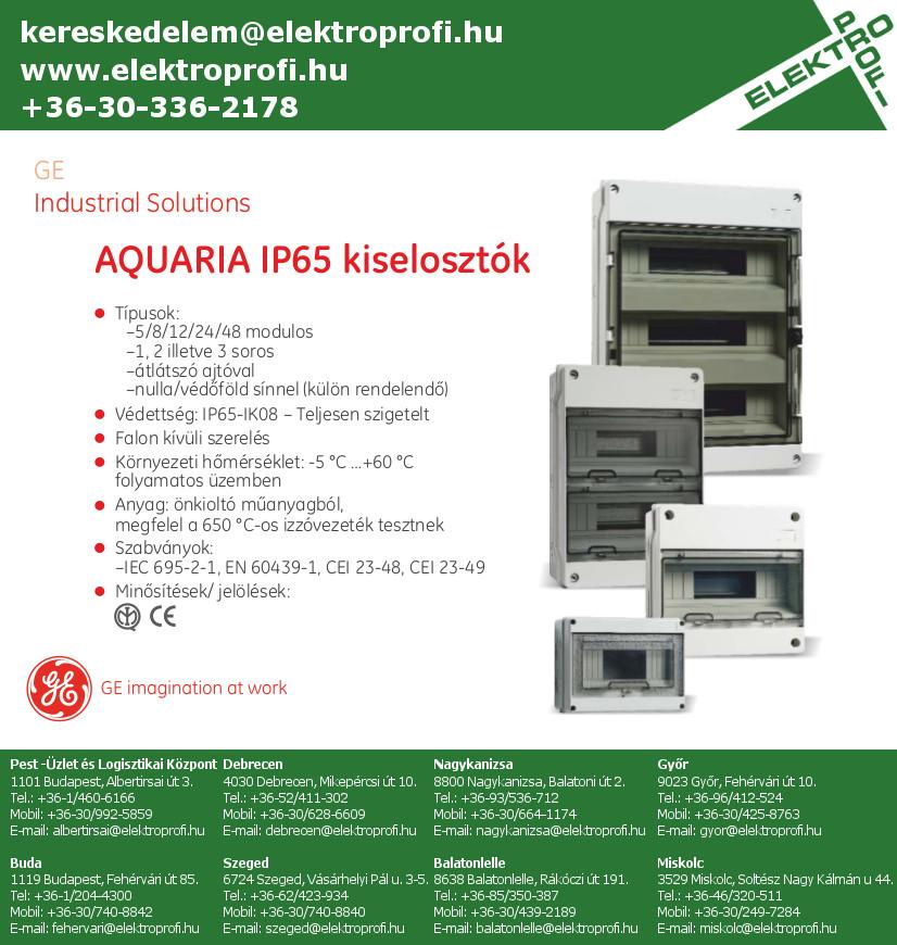 GE Industrial Solutions - AQUARIA IP65 kiselosztók