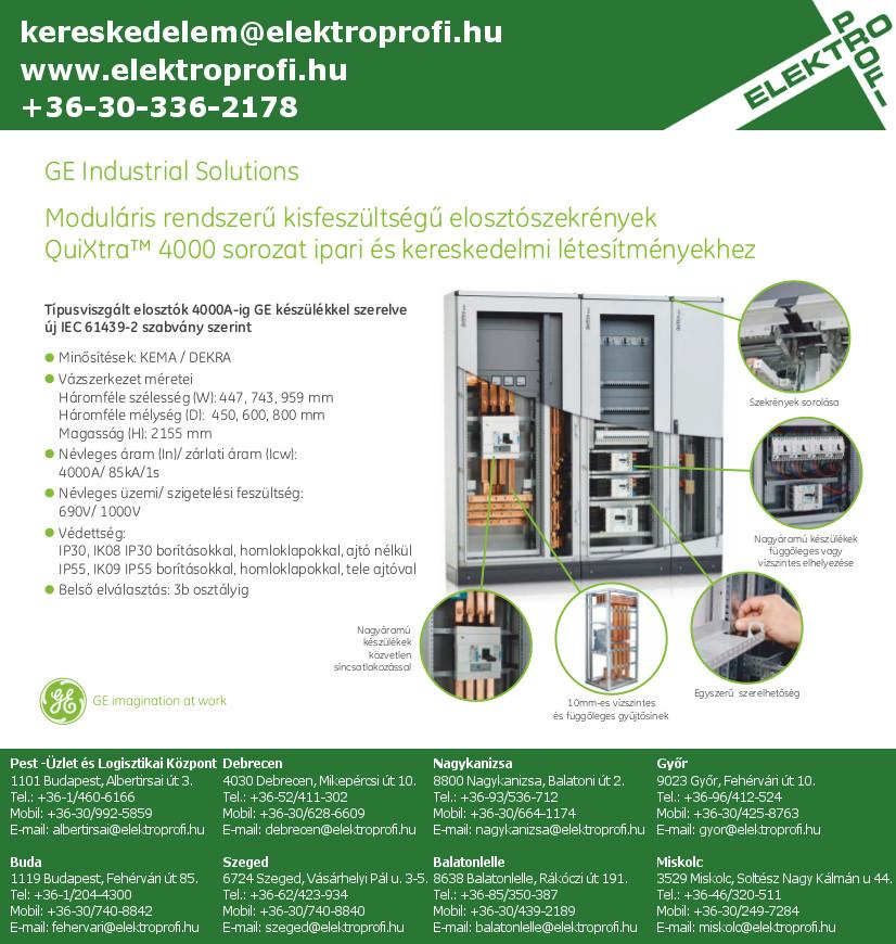 GE Industrial Solutions - QuiXtra moduláris kisfeszültségű elosztószekrények