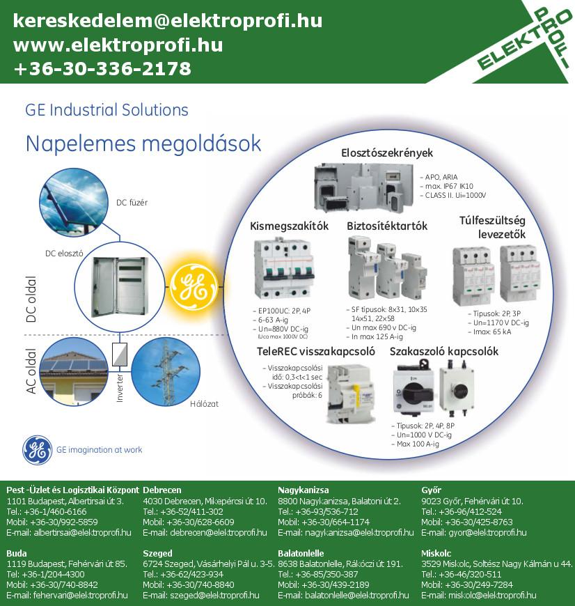 GE Industrial Solutions - Napelemes megoldások