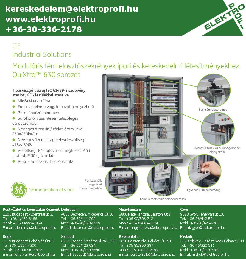 GE Industrial Solutions - QuiXtra moduláris fém elosztószekrények