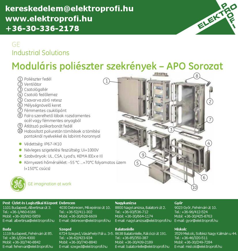 GE Industrial Solutions - APO moduláris poliészter szekrények