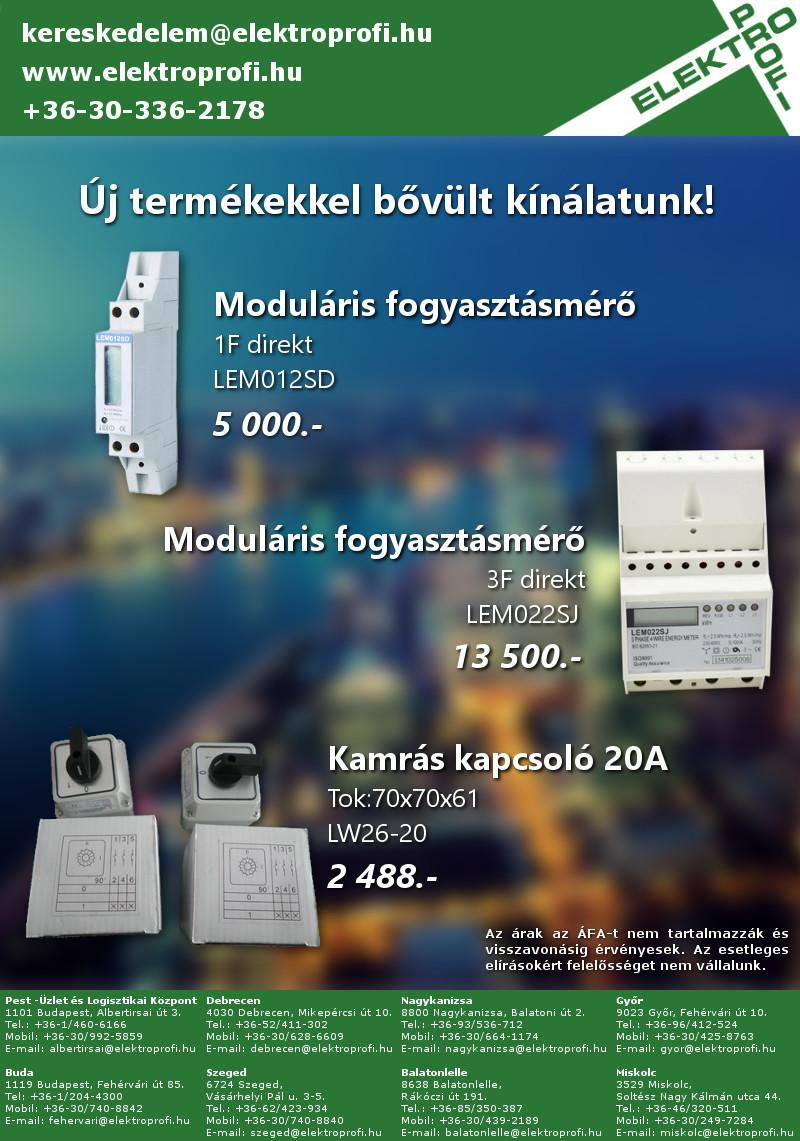 Új termékek; fogyasztásmérők