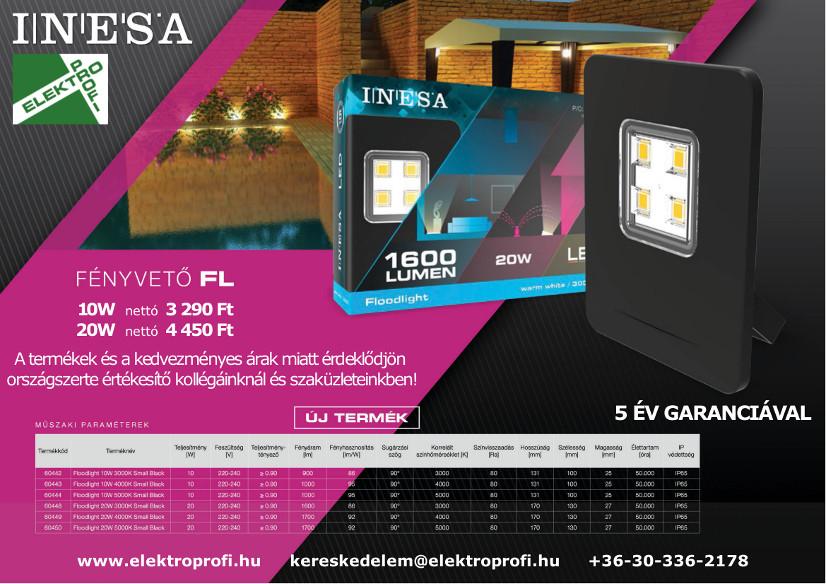 INESA fényvető 5 év garanciával