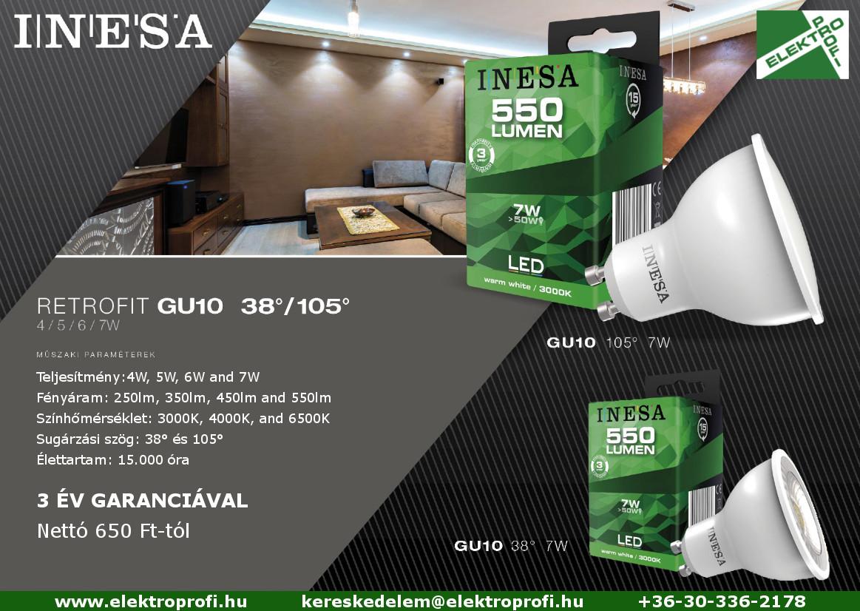 INESA termékújdonságok: GU10, szabályozható GU10 és MR16