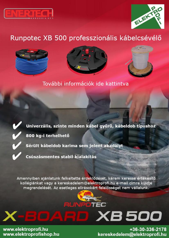 Runpotec XB 500 professzionális kábelcsévélő