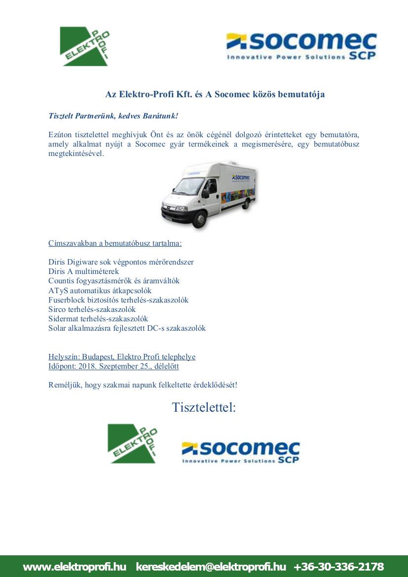 Az Elektro-Profi Kft. és A Socomec közös bemutatója