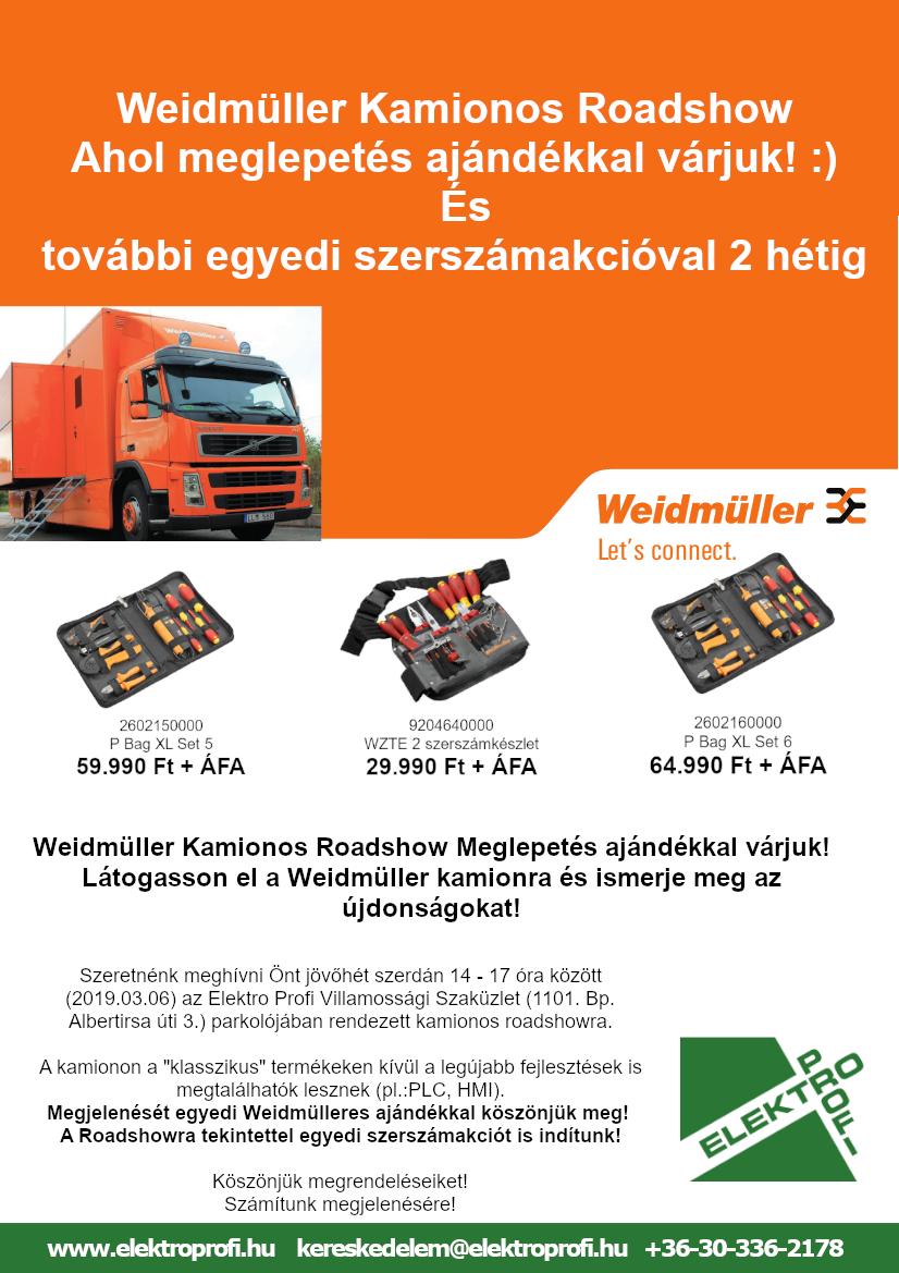 Weidmüller kamionos roadshow