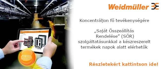 Weidmüller Saját Összeállítás Rendelése (SÖR)