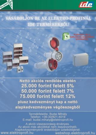 Vásároljon be az Elektro Profinál IDE termékekből!